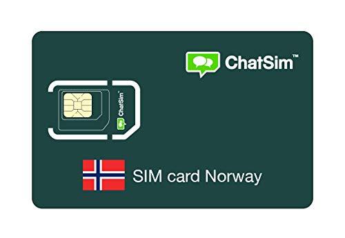 Internationale SIM-Karte für Reisen nach NORWEGEN und rund um den Globus - ChatSim - Empfang in 165 Ländern, Roaming weltweit - Mehrfachanbieternetz GSM/2G/3G/4G, keine Fixkosten. 1GB für 30 Tage
