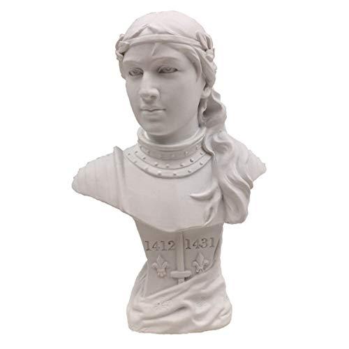 Isideco Weiße Büste Jeanne d'Arc nach Vorlage von Goldscheider