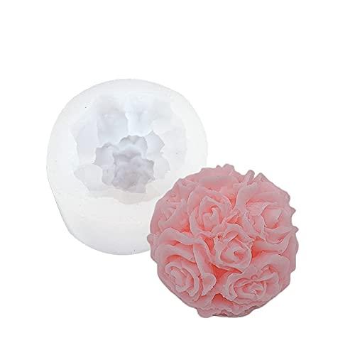 Swetup 3D Silikonform Rose, Harz-Silikonform, Silikon-Form, Resin Mould, Rose Silikon Form, Silicone Mould, Vielseitige Silikonform für Kuchen Dekoration Schokolade Handgemachte Süßigkeit Herstellung