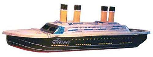 CAPRILO Juego Decorativo Infantil de Hojalata Barco Titanic Pop Pop Replicas de Embarcaciones con Vela. Juegos de Coleccion. Regalos Originales para Navidad y Reyes. Decoracion Clasica.