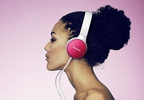 Panasonic RP-HF300ME-P On-Ear Kopfhörer (Mikrofon, Controller, zusammenfaltbar, 10-25.000 Hz, 1,2 m Flachbandkabel) rosa