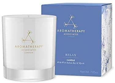 Aromatherapy Associates Relax Candle infused with essential oils of West Indian bay...