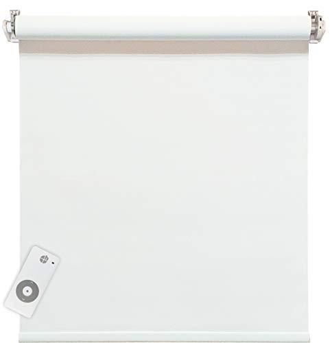 east - Estor eléctrico (100% opaco, incluye motor y emisor, 70 x 220 cm), color blanco