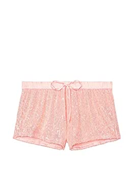 Victoria s Secret Sequins Bling Relaxed Fit Short Small Color Pink NWT