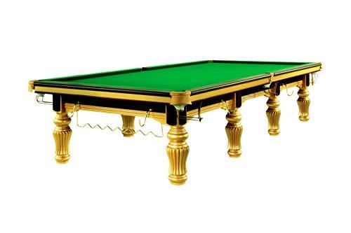Dynamic Billardtisch, Snooker, Herkules, inkl. Steel Cushions, Gold Tischgröße 12 ft
