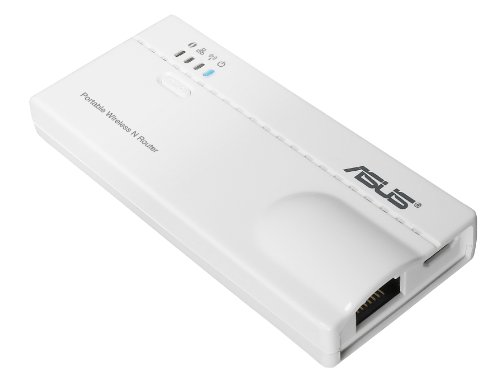 Asus WL-330N N150 Ultra-Mini 5-in-1 Wireless LAN Multifunktions Adapter, 802.11 b/g/n, Router, Accesspoint, Repeater, LAN-to-WLAN Adapter & Hotspot Funktion, Weiß