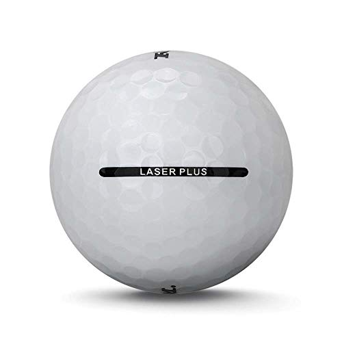 72 Ram Laser Plus Golf Balls - Soft Low Compression for Slower Swing Speeds - White