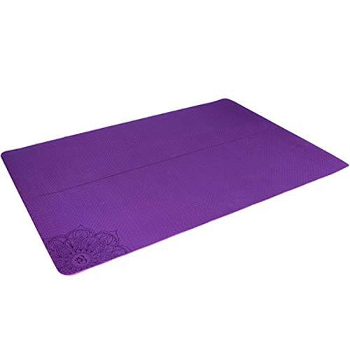 Cómodo de usar Estera de yoga, alfombra de yoga de fitness para 2 personas para principiantes, estera de fitness de TPE antideslizante para gimnasia, gimnasio, gimnasio, yoga y ejercicio Adecuado para