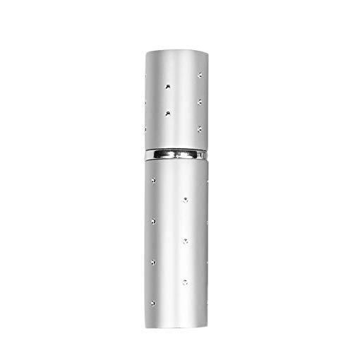 Mini Vide Parfum Refillable Atomiseur Vaporisateur Pour Voyage Spray Parfum Pompe Case 5ml Argent