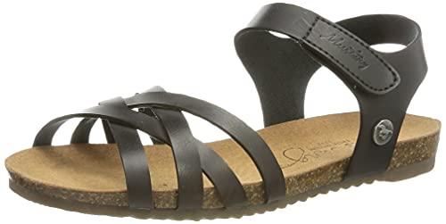 MUSTANG Mädchen 5057-801 Sandale, schwarz, 38 EU