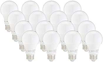 16-Pack Amazon Basics 40W Dimmable A19 LED Light Bulb