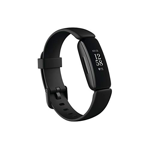 Fitbit Inspire 2 Health amp Fitness Tracker with a Free 1Year Fitbit Premium Trial 24/7 Heart Rate Black/Black One Size S amp L Bands Included