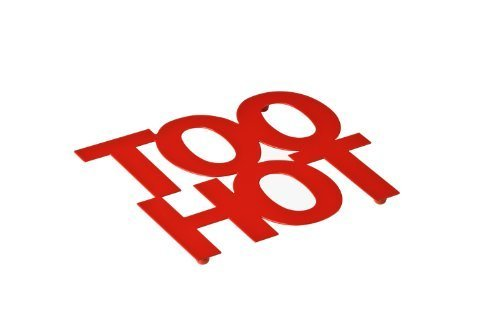 Premier Housewares Too Hot Trivet In Red by Erinyx