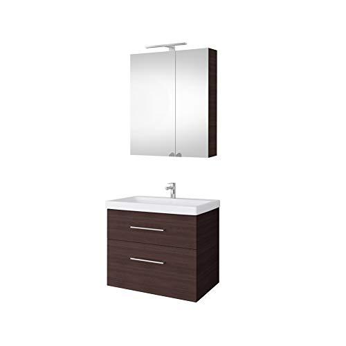 Planetmöbel Mueble de espejo Conjunto de muebles de baño de 64 cm...