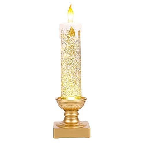 Grasslands Road 476108 Try Me Button Light Up Candlestick, Medium, Gold