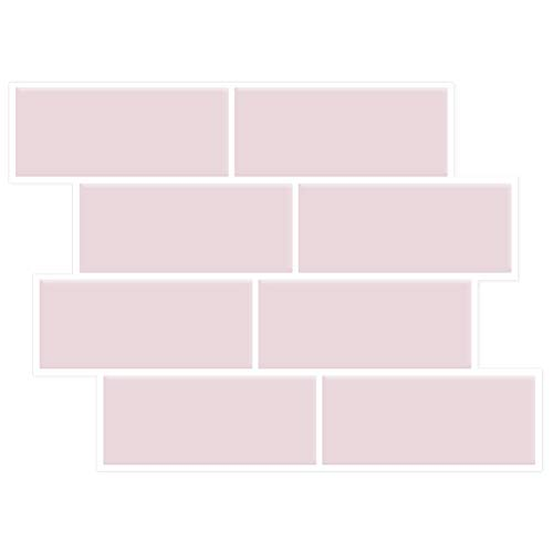 "Moonbeam tree Peel and Stick Subway Tile Backsplash Self-Adhesive Removable Kitchen Backsplash Tile Subway Design Stick on Backsplash Tile for Kitchen/Bathroom(11""x 8.4"" 5-Sheet,Pink Purple)"