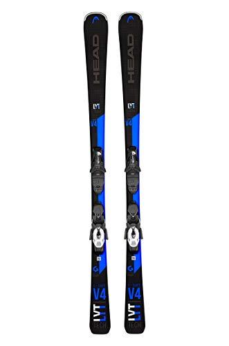 HEAD Unisex V-Shape V4 LYT Powerrail Graphene Black/Blue Piste Skis, Size: 163