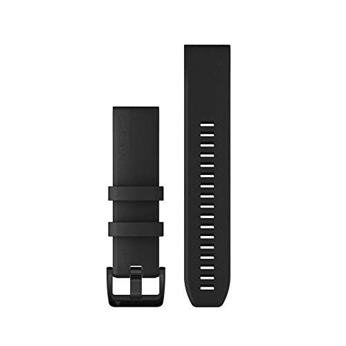 Garmin QuickFit 22 Watch Bands, Black with Black Stainless Steel Hardware