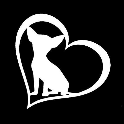 Chihuahua perro pegatina de coche animal amante del animal doméstico parabrisas trasero rood decoración removible (Color Name : Sliver)