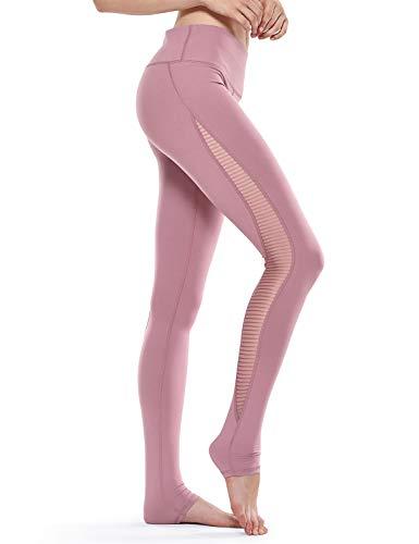 CRZ YOGA - Malla Pantalones Deportivos Elastico Cintura Media Fitness Yoga para Mujer -71cm Higo - R426 36