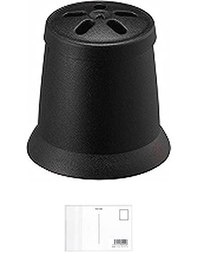 三菱鉛筆 ジェットストリーム 41 MSXE5-1000用 消しゴムキャップ ブラック BKCMSXE51024 【まとめ買い 7 パック 】 + 画材屋ドットコム ポストカードA