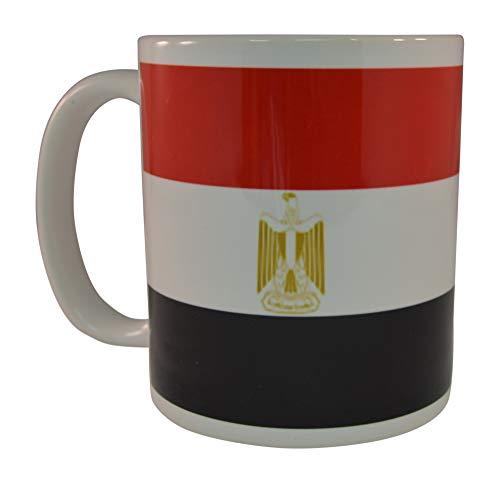 N\A Taza de café con Bandera egipcia Taza de Novedad Gran Idea de Regalo para Hombres Mujeres Egipto