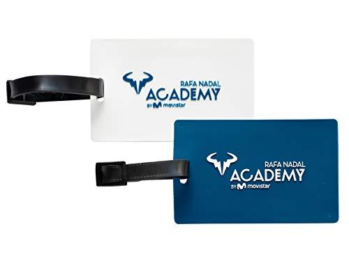 RAFA NADAL ACADEMY BY MOVISTAR 2 Identificadores Pack Oficial, Juventud Unisex, Blanco y Azul