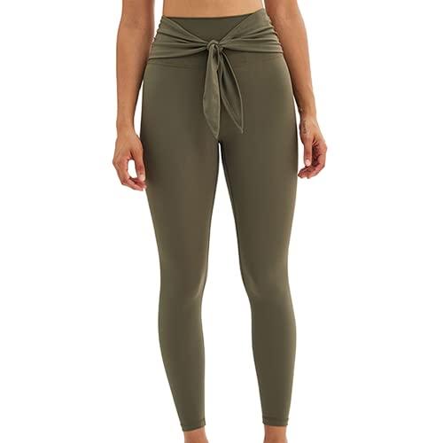 QTJY Los Deportes inconsútiles de Las Mujeres Que Funcionan con los Pantalones de la Yoga, la Aptitud del Gimnasio levantan Las Medias de los Deportes de la elevación de la Cadera de la Cintura AS