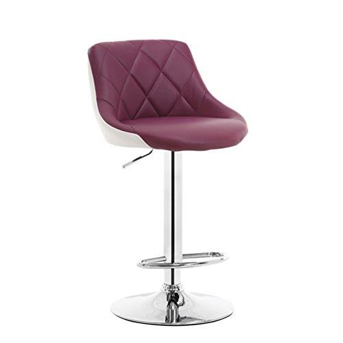 Creative Bar Chair, Liftable Colorful Front Desk Chair Bar Counter Stool Backrest Chair High Foot Bar Chair Coffee Shop Chair Business Hall Chair Club House Leisure Chair 60-80cm ( Color : #3 )