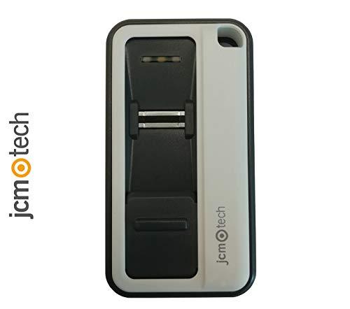 JCM Tech - Mando garaje universal GoBIO 433 - Mando a distancia biométrico - Control de acceso para puertas - Capacidad para 15 huellas dactilares - Alcance nominal 100m