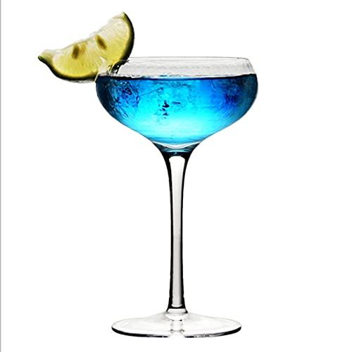 WANGLX Par de Platillos de Cóctel de Champán Platillo de Champán de Cristal