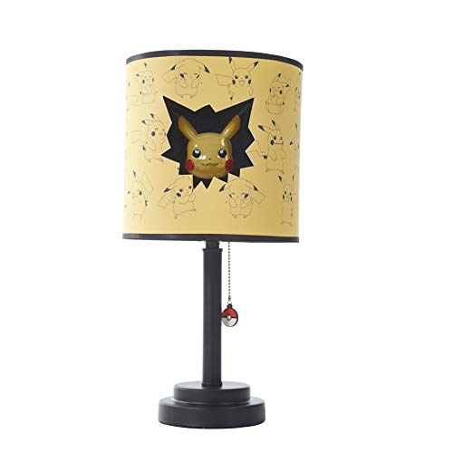 Idea Nuova Pokemon Die Cut Double Shade Table Lamp, Yellow