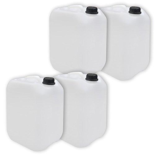 4 x 10 Liter Leerkanister NEU mit Sicherheitsverschluss (4 x 22003)