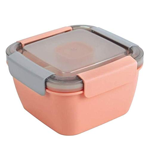 Lunch Box For Kids Lunch Bento Box Leak-Proof for magnetron en vaatwasser 2-vaks hermetische Bento Box for vrouwen (2 stuks) (Color : Orange, Size : 1.1L)