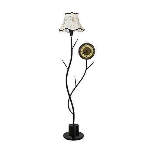 Staande lamp daglicht & staande lamp van metaal met moderne led-klok energiebesparend dimbaar verticaal voor woonkamer slaapkamer