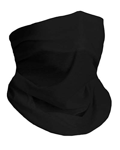 Into the AM Black Neck Gaiter Face Scarf Mask Bandana Gator (Black)