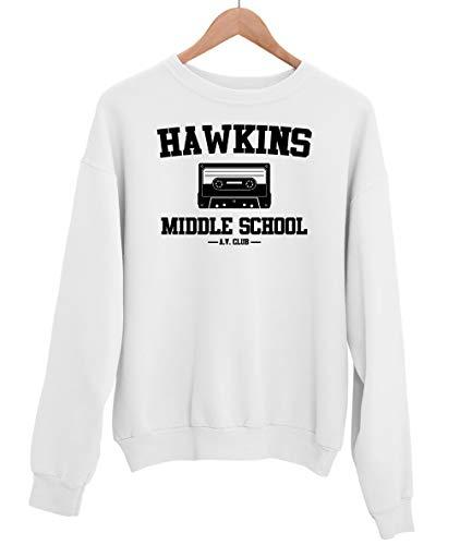 Stranger Things Hawkins mellanstadiet unisex tröja cool TV-tröja ledig passform