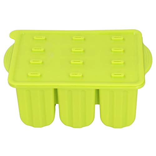 Zerodis Molde de silicona para helados con tapa y 50 varillas antiadherentes de grado alimentario (verde + 50 palos)