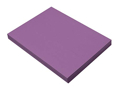SunWorks Heavyweight Construction Paper, 9 x 12 Inches, Violet, 100 Sheets
