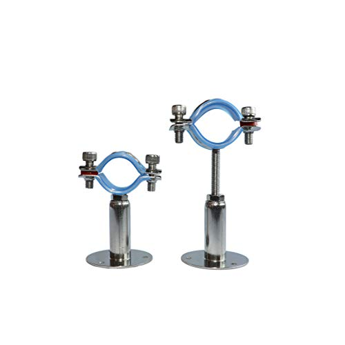 WYKA 3/4 Inch Wall Mount Ceiling Mount Pipe Support Ring Hanger,2 PCS Adjustable Stainless Steel Pipe Bracket Clamp Range 15-19mm(50+50mm)