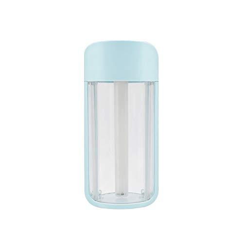 YuShiLiu Mist 260 ml botella transparente humidificador ultrasónico de aire romántico color noche lámpara bastante humidificador USB aroma difusor de aceite esencial (color: azul)