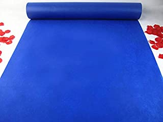 Wedding Accessories Decorations 24 in×66 ft Royal Blue Aisle Runner Aisle Floor Runner for Wedding Party Indoor and Outdoor
