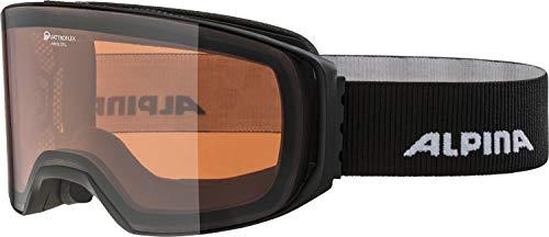 ALPINA Unisex - Erwachsene, ARRIS QH Skibrille, black matt, One size