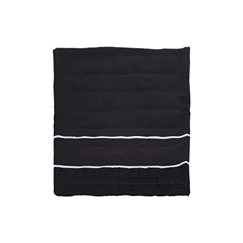 Christopher Knight Home 309038 Louise Queen Size Fabric Duvet, Black