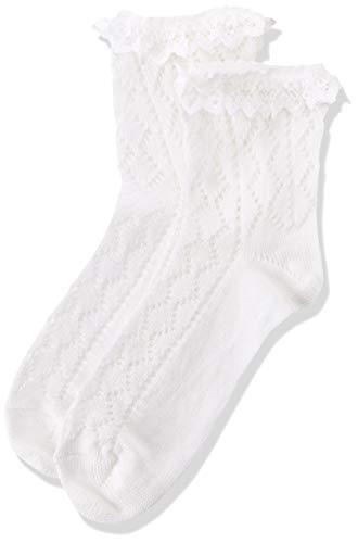 Lusana Mädchen Kinder- Trachtensöckchen Amelie Socken, Weiß (weiß 26), 27 (Herstellergröße: 27-30)
