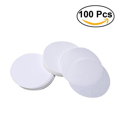 UEETEK 100 Stück Qualitatives Filterpapier Mittlere Durchflussgeschwindigkeit 11cm Durchmesser