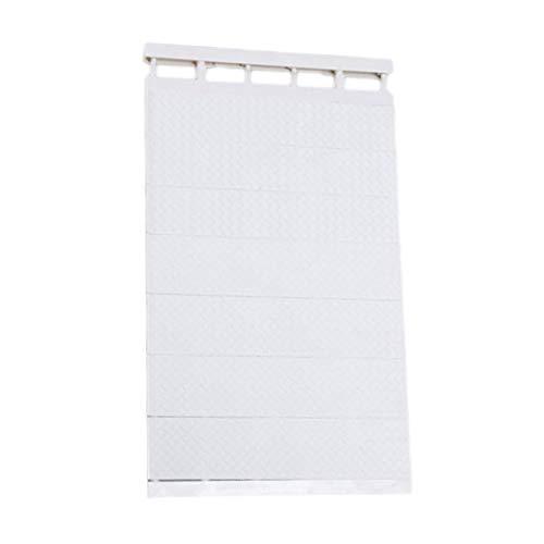 Rekken voor kasten, verstelbaar, keukenrek, wandmontage, ruimtebesparend, decoratieve planken, kastdeuren, zuiver wit, 50-80 cm breed, 42 cm breed