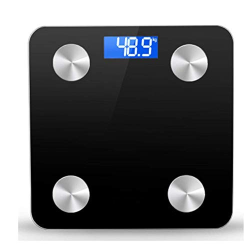 Scales,Toughened Glass Body Intelligent Weight Scale, Precision Digital Weight Scale Bathroom Scale (Color : Purple) Portable
