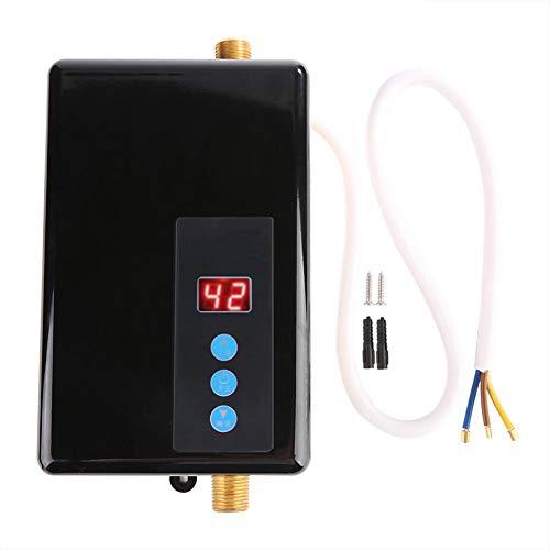 Mini scaldacqua istantaneo, scaldacqua istantaneo Elettrico Doccia 220V 5,5KW scaldacqua istantaneo sottolavello con LCD Display Acqua Calda Senza Serbatoio