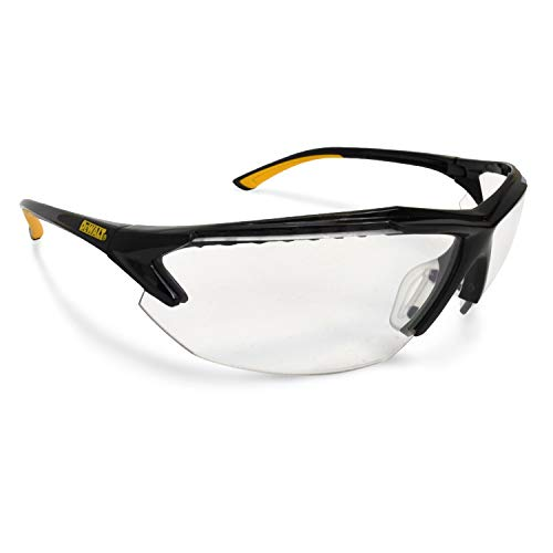 DEWALT DPG106 Spector In-Viz Bifocal Safety Glass - Black/Yellow Frame - Clear Lens - 2.5 Diopter, DPG106-125D
